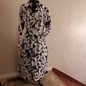 Who What Wear Floral Cotton Shirt Dress XXL